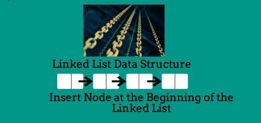 Insert node at the beginning of the linked list