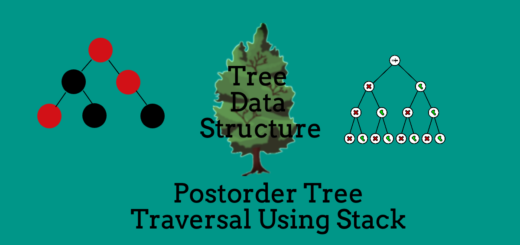 Postorder Traversal of Binary Tree Using Stacks